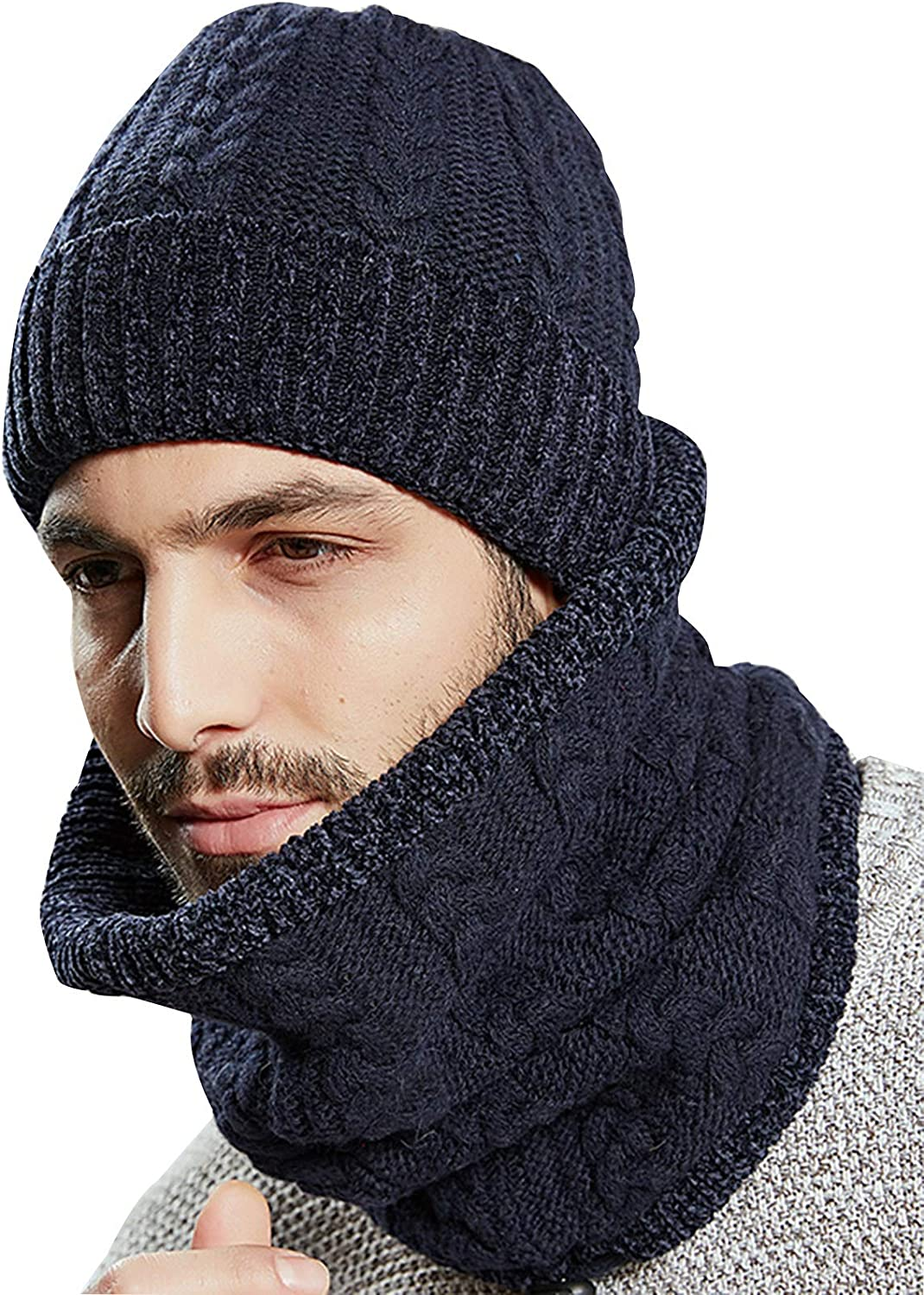 FOLDING Hats Caps Winter High material Beanie Hat Male Set Tulsa Mall Warm Wi Scarf