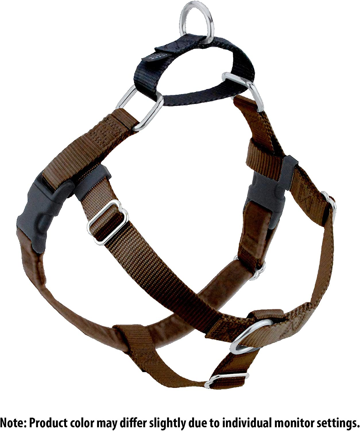 2 Hounds Design HN XXL BN Freedom NoPull Harness Only, (1  Wide), Brown, XXLarge