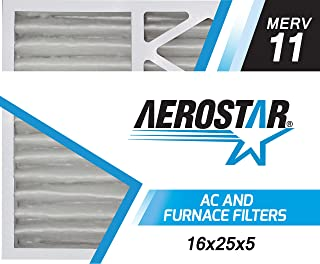 Aerostar 16x25x5 MERV 11 Honeywell Replacement Pleated Air Filter, Made in the USA 15 7/8