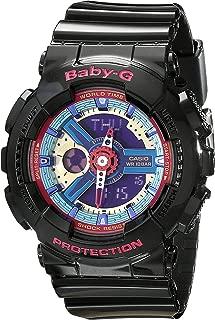 BA112-1A Baby-G Multicolor Dial Black Resin Multi Quartz Woman's Watch