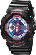 Casio BA112-1A Baby-G Multicolor Dial Black Resin Multi Quartz Woman's Watch
