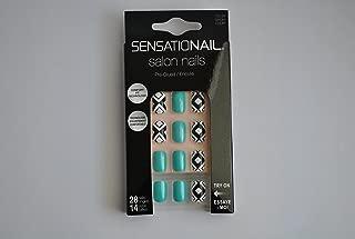 Sensationail Salon Nails Set, 28 Nails, 14 Sizes, Short, Pre-Glued 72155