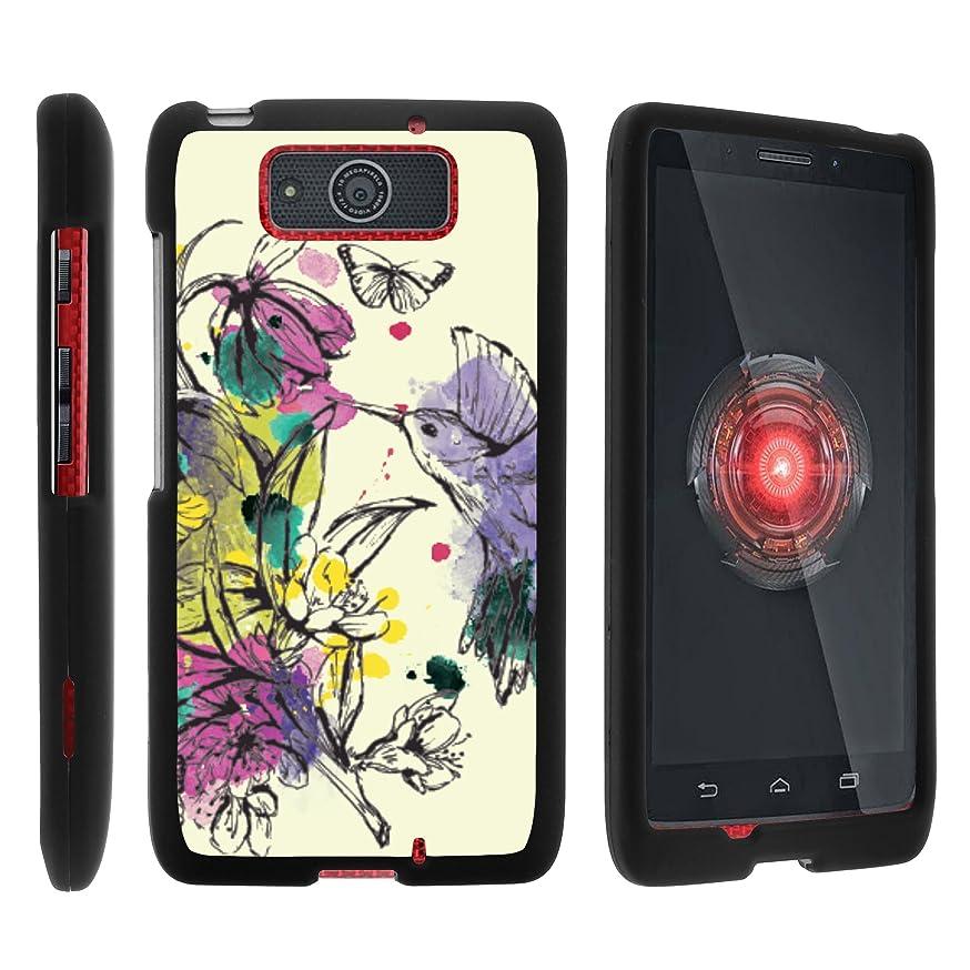 MINITURTLE Case Compatible w/Motorola Droid Ultra Phone Case, Stylish Personalized Protective Snap On Hard Case Phone Protector for Motorola Droid MAXX XT1080 Hummingbird Flowers
