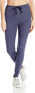 PL Movement by Pink Lotus Womens PT67F65 Soft Terry Pant with Large Waistband and Drawstring Sweatpants - Blue