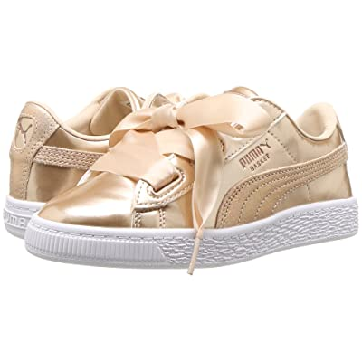 Puma Kids Basket Heart Lunar Lux PS (Little Kid/Big Kid) (Cream Tan) Girls Shoes