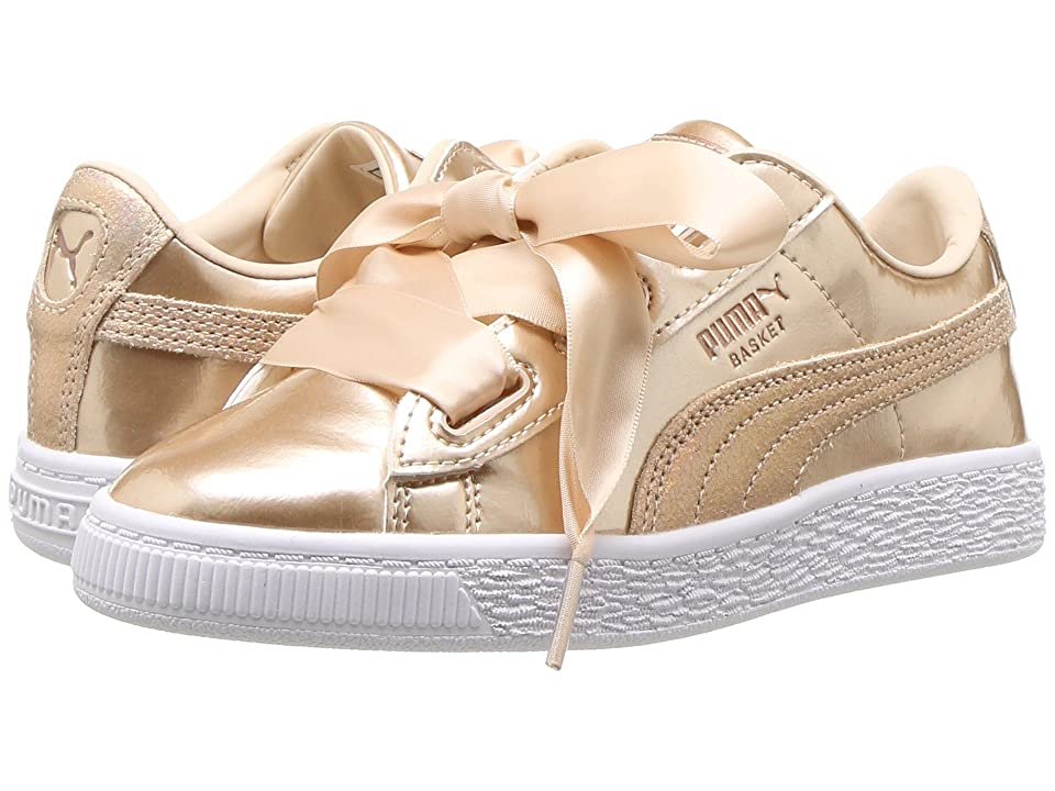 Puma Kids Basket Heart Lunar Lux PS (Little Kid/Big Kid) (Cream Tan) Girls Shoes