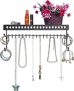 Mango Steam Wall-Mounted Jewelry Organizer Shelf (17 Inch, Black)