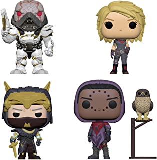 Funko Pop! Games Bundle of 4: Dominus Ghaul, Suraya Hawthorne featured with Hawk, Amanda Holliday and the old Warlock Osiris