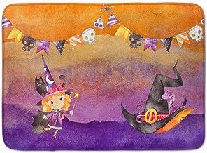 Caroline's Treasures Halloween Little Witch Party Machine Washable Memory Foam Mat doormats, Multicolor