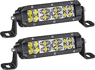LED Light Bar, AKD Part 2Pcs 5 Inch 72W LED Work Light OSRAM Spot Flood Combo Pods Off Road Driving Lights Dual Row Super Slim Fog Lamps Waterproof for Truck Motorcycle Jeep UTV ATV