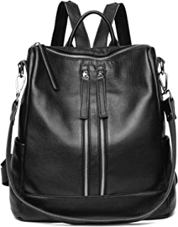 Genuine Leather Backpack Women Shoulder Bag Casual Purse Convertible