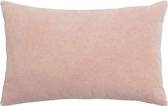 French Connection Liam Velvet Throw Pillow, 16x24, Blush
