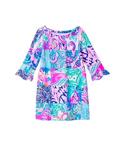 Lilly Pulitzer Kids UPF 50+ Mini Sophie Ruffle Dress (Toddler/Little Kids/Big Kids) (Multi Patch To Match) Girl