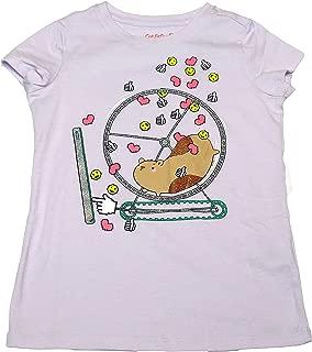Cat & Jack Girls Short Sleeve Hamster Emojis Graphic T-Shirt Violet