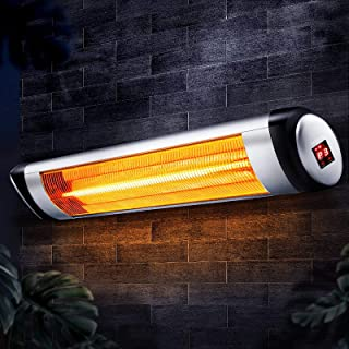 Devanti Electric Heater Infrared Patio Heater Radiant Strip Indoor Outdoor Heaters Remote Control 1500W