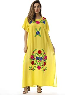 Embroidered Maxi Dress with Double Side Slits