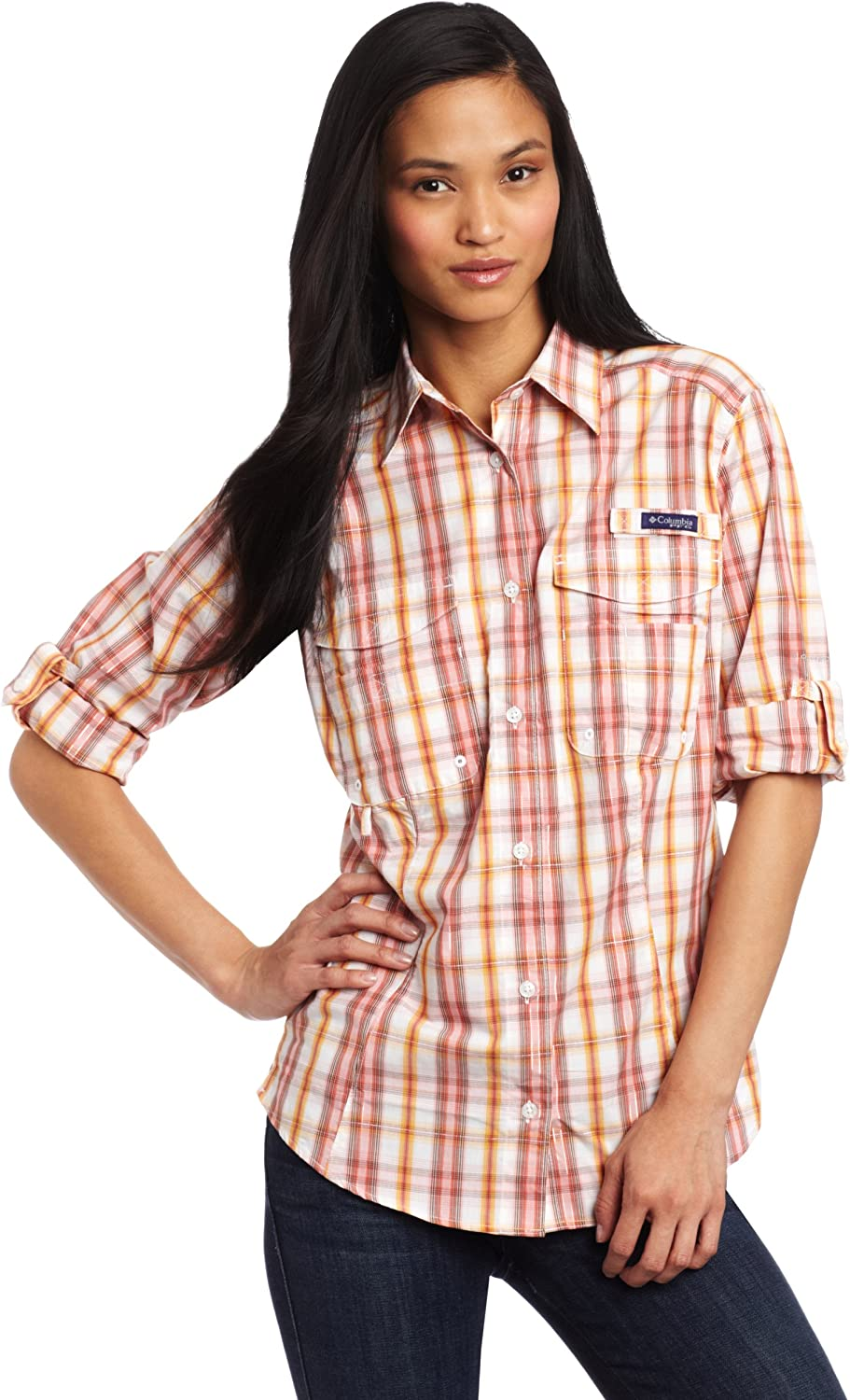 Columbia Women's Super Bonehead Sleeve Challenge the lowest price of Japan Long High quality Shirt