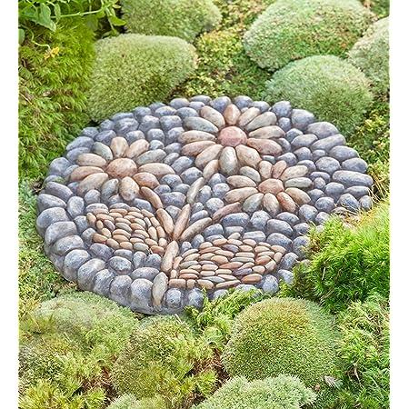 Home Outdoor Decor 5.5H Garden Collection Long Lasting Dragonfly Garden Stone Durable Garden Gift Resin and Stone Roman Garden Decorative