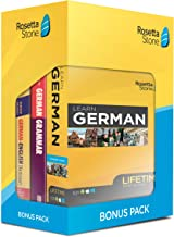 Learn German: Rosetta Stone Bonus Pack Bundle (Lifetime Online Access + Grammar Guide and Dictionary Book Set)