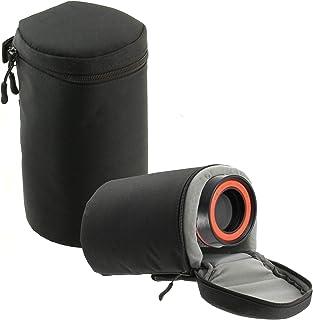 Navitech Schwarz Wasserdicht Kameraobjektiv Schutzhülle Tasche Kompatibel Mit Der Canon EF 11-24mm f/4L USM | Canon EF 35-350mm f/3.5-5.6L USM | Canon EF 70-200mm f/4 is USM