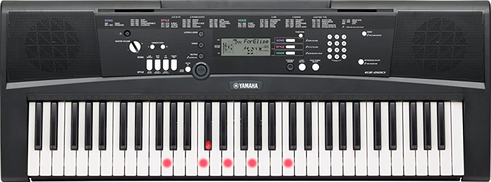 Yamaha tastiera digitale ez-220 con 61 tasti dinamici luminosi e funzioni di apprendimento SEZ220UK