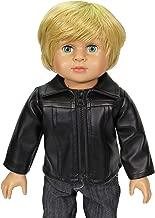 American Fashion World Black Leather Jacket Fits 18 inch Doll