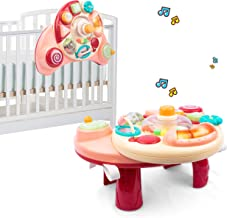 UNIH Baby Activity Table 6 to 12-18 Months, 3 in 1 Musical Learning Table Baby Activity Center for Boys Girls 1 2 3 Years Old