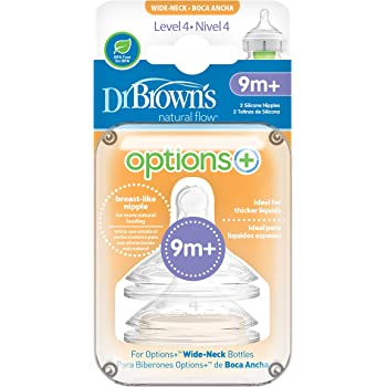 6 Count Dr Brown Natural Flow Dr Brown/'s Options Teats Level 4