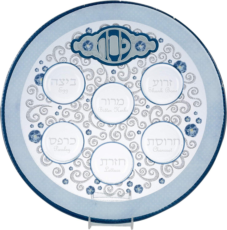 Rite Lite supreme Round Passover Glass Elegant Decor Plate Popularity Pes For Seder