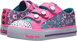 SKECHERS KIDS - Twinkle Toes: Shuffles - Paw Party 10859L Lights (Little Kid/Big Kid)