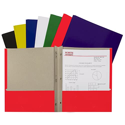 Red Poly Folders With Prongs: Amazon.com