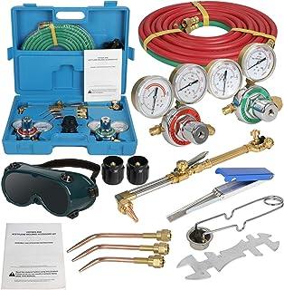MORMOR D6117 Gas Welding Cutting Kit Oxy Acetylene Oxygen Torch Brazing Fits Victor w/Hose