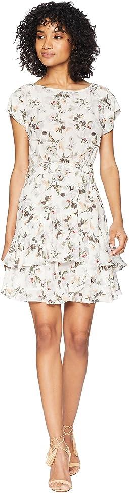 Short Sleeve Sofia Silk Dress