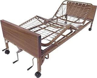 Drive Medical Manual Hospital Bed, Brown, No Rails and No Mattress, 36 Inch