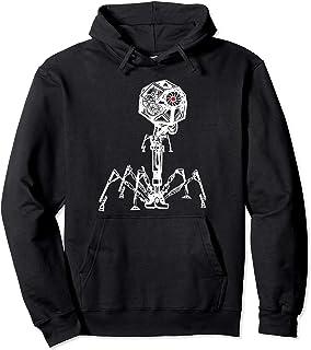 Steampunk Phage: Geeky Bacteria Virus Pullover Hoodie