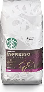 Starbucks Espresso Dark Roast Whole Bean Coffee, 20 Ounce (Pack of 1)