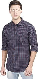 Le Panache Men's Casual Slim Fit Checkered Multi-Colored Shirt