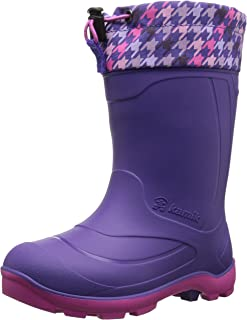 Kamik Snobuster2 Snow Boot, Charcoal/Lime, 1 M US Little Kid
