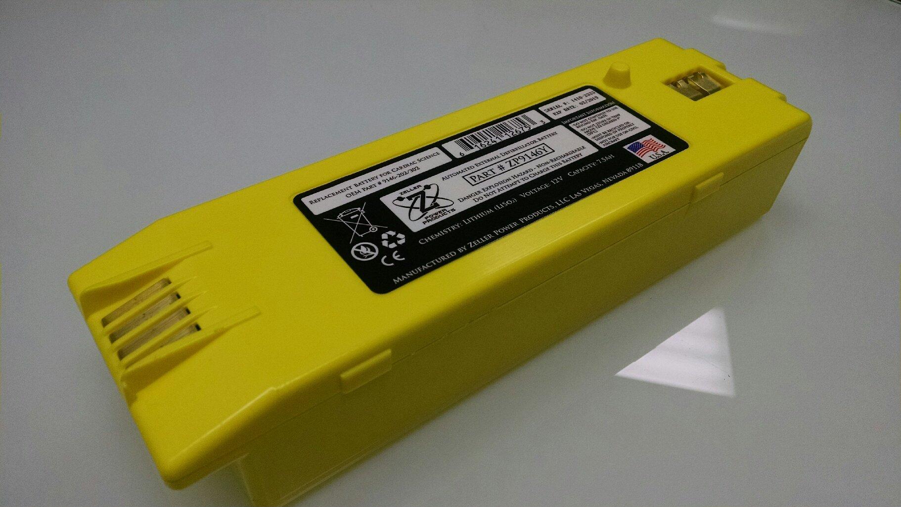9146-302 Battery for Cardiac Science Powerheart G3 AED