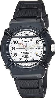 ساعة رياضية بعرض انالوج وبطارية تدوم لمدة 10 سنوات للرجال من كاسيو - HDA-600B-7BVDF