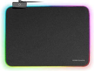 MARSGAMING MMPRGBL, Tappetino da Gioco, Chroma RGB, Nanotextile, 365x265x4mm, Nero