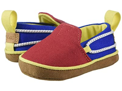TOMS Kids Lima (Infant/Toddler) (Red/Blue Canvas) Kid