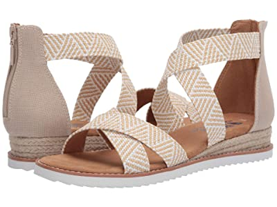 BOBS from SKECHERS Desert Kiss Summer Sun (Natural/White) Women
