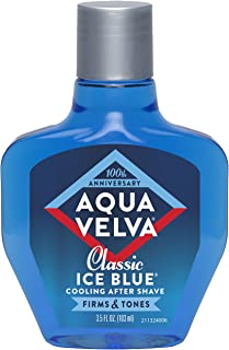 Aqua Velva Mens After Shave, Soothes, Cools, and Refreshes Skin, Classic Ice Blue- 3.5 Ounce