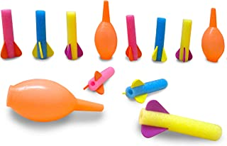 Toy Cubby Foam Rocket Launcher Set - Mega Pack of 12 - Hand Squeeze Pump - Parties, Birthdays, Gifts, Party Favors, Etc.