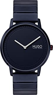 Hugo Boss Mens Blue Dial Ionic Plated Blue Steel Watch - 1520021