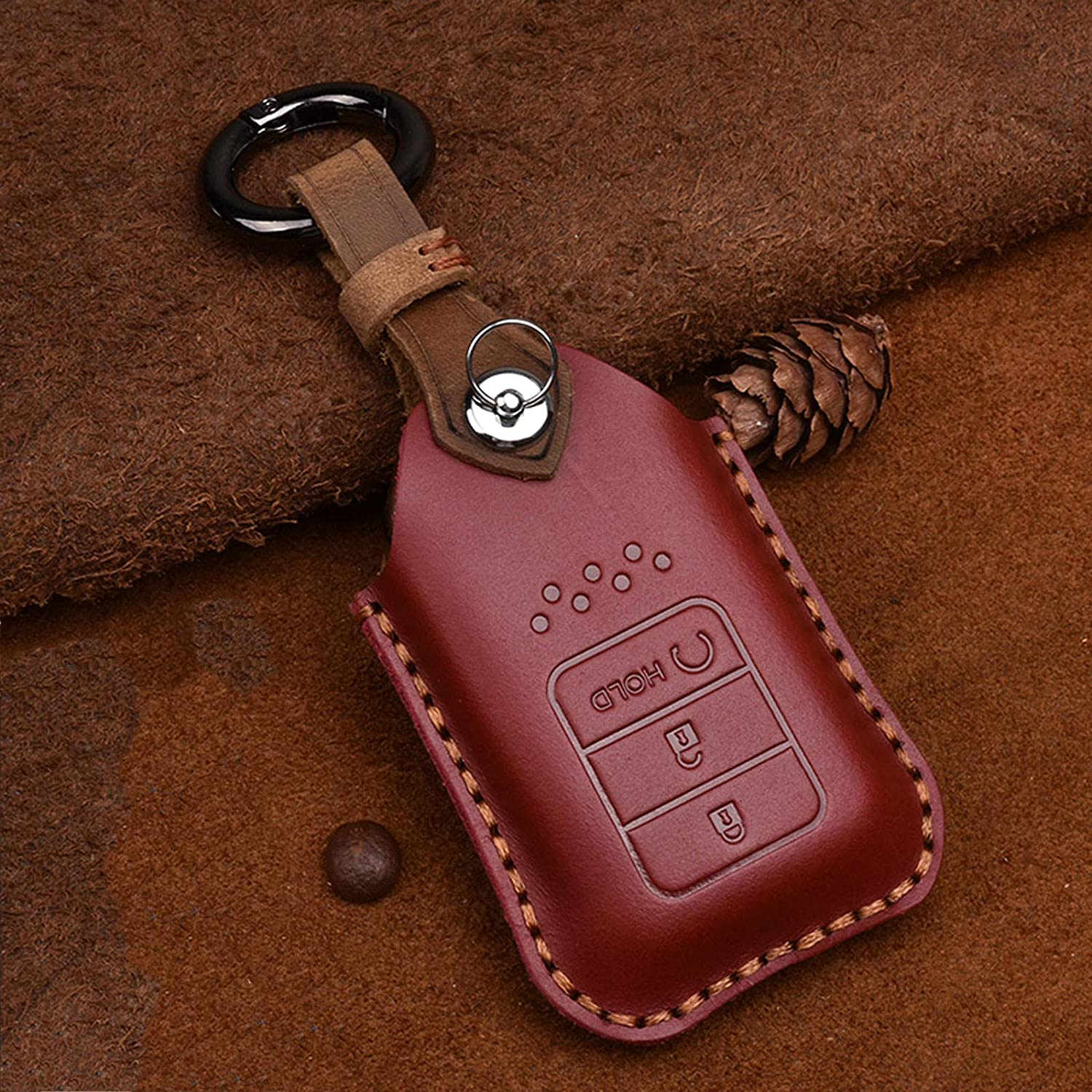 TPHJRM Car Key Fob Cover Limited time for free shipping Smart Leather Alternative dealer Fit for Honda Ci Case