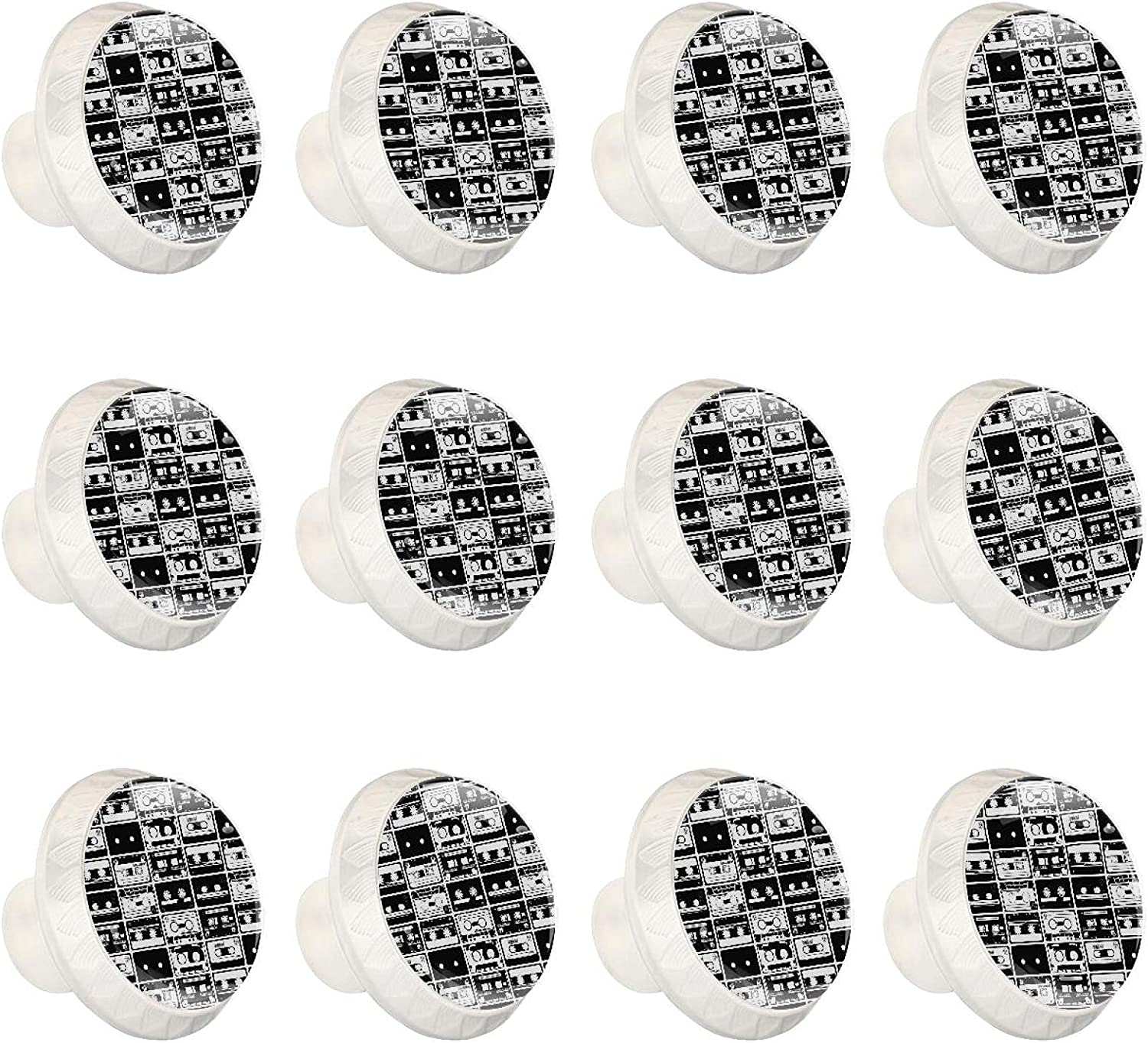 Ranking integrated 1st place Black and Houston Mall White Camera Hardware Knobs Handle Cupboard Round Pull
