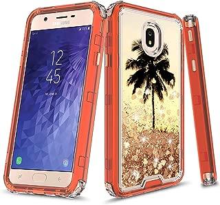 Samsung Galaxy J3 2018/J3 Achieve/Express Prime 3/Amp Prime 3/J3 Star/j3 Orbit/Sol 3/J3V 3rd Gen/J3 Aura Case, Onyxii 3in1 Graphic Design Quicksand Liquid Floating Case for SM-J337 (Palm)