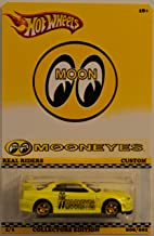 Hot Wheels Compatible Nissan Skyline GT-R R34 Yellow Custom-Made Real Rider Rubber Wheels Mooneyes Series 1:64 Scale Collectible Die Cast Model Car